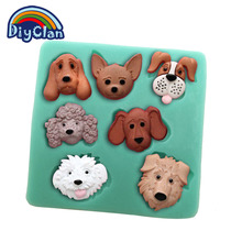 DIY silicone dogs clay mold cake decorating tools Dog style fondant chocolate resinp mould kitchen bakeware F0154XG35