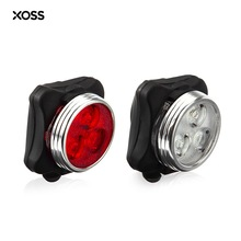 XOSS Bicycle Lights Cycling Light usb led rear bike light Aluminum Alloy bicycle light with 3 LED USB Charging(China)