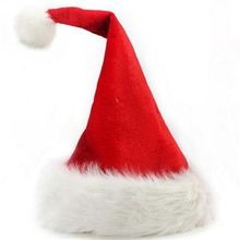 2Pcs/Lot High-grade Christmas hat Upscale velvet plush Christmas gifts jewelry Santa Hat