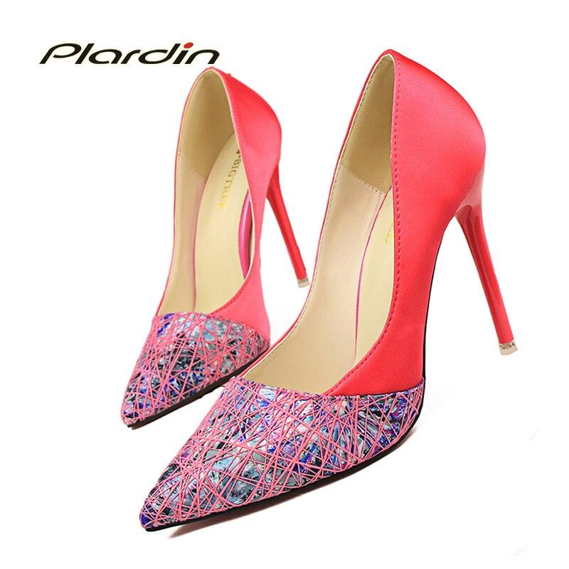 plardin Basic Pumps Women Wedding Pumps Victoria Shoes Woman 2017 Women Womens Color Mixed Bridal High Heels<br><br>Aliexpress