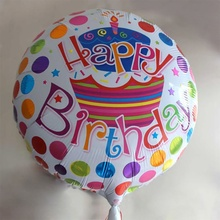 1 pcs Brand New Durable 18 inches Aluminum Cartoon Happy Birthday Balloons Party Decoration