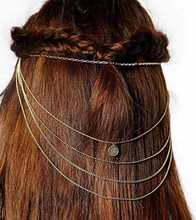2016 Bohemian Women Lovely Fashion Charming Metal Alloy Head Chain Jewelry Forehead Dance Headband Piece Hair Band