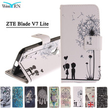ZTE Blade V7 lite Case Cover 3D Cartoon Cute PU Leather Flip Phone Funda Coque - LZ International Trading Co., Ltd store