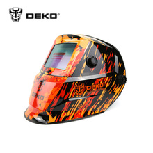 DEKOPRO Orange Fire Solar Auto Darkening Electric Welding Mask helmet welding Lens for Welding Machine OR Plasma Cutter