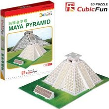 CubicFun 3D puzzle paper model creative gift DIY toy Mini Maya Pyramid ( Mexico) easy to assemble educational creat decoration