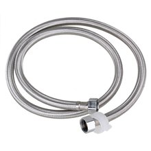 1.2M Length 19mm Inner Dia Thread Silver Stainless Steel Braided Hose Washing Machine Connector Water Heaters Hose Replacement(China)