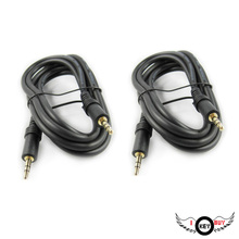 2PCS 3.5mm Male To Male 150mm Long Audio Line To Record MP3 Computer Amplifier Speaker Lines Car Phone Black Gold-Plated Head(China)