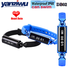 2PCS Fashion Waterproof Sport Smart Wristband DB02 Heart Rate Monitor Waterproof Smart Band for IOS Android Ultra Thin Fitness