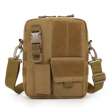 Army Multi-function Waterproof Tablet PC Nylon Pack Bag Military Molle Shoulder Bag Men's Messenger Bag(China)
