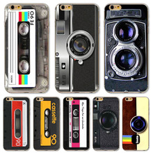 Phone case For Apple  iPhone 4 4s fundas Old Phone Camera Tape Classic Styles Painted Soft Sillicon TPU Back Cases cover