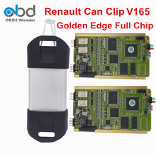 DHL Free For Renault Can Clip V165 Full Chip PCB With Gold Edge Can Lip Diagnostic Tool For Reanult CYPRESS AN2131QC New Relays