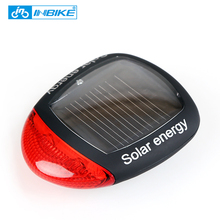 INBIKE Solar Power LED Bike Lights Taillights Night Safety Warning Lights Mountain Bike Riding Equipment Cycling Accessories 015