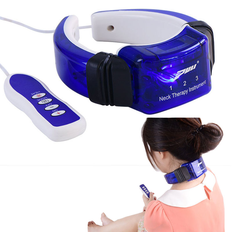 Neck Cervical Massager Remote Control Magnetic Therapy Infrared Heating Massage Head Shoulder Relaxation Health &amp; Wellness B60 <br>