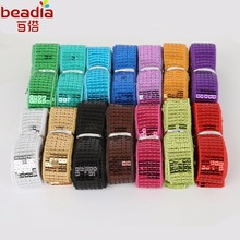 5Yards/lot 5-Rows Square DIY Shiny Beading Sequins Ribbon Lace For Dancing Costume Stage Garments Decoration Hat Embellishments(China)