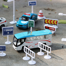 56pcs/set Kids Gift Toys DIY Model Scene Toy Sign Road Sign Roadblock Traffic Sign Toy Accessories Children early education toys(China)