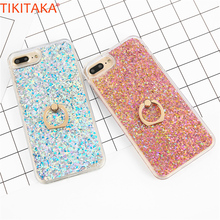 Love Heart Diamonds Dynamic Liquid Quicksand Phone Case For iPhone 5 5s SE Bling Glitter Carcasas Shining Powder Back Cover New(China)