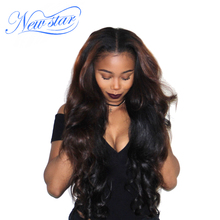 "New Star Brazilian Hair Weave One Bundles Body Wave 10""- 30"" Virgin Thick Human Hair Weaving Cuticle Aligned Unprocessed Hair(China)"
