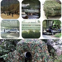 6MX6M Polyester Material+Nylon Strap Car Drop Hidding Cover Military Exercise Military Camouflage Camo Net Camping Hunting Cover