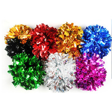 130g,Cheering metallic pompom with baton handle in the middle,Pom Pom,Cheerleading products,,Professional use