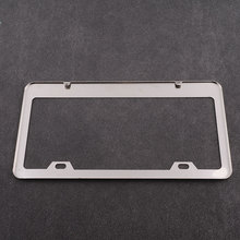 Car Vehicle Stainless Steel Silver License Frames Screw Caps Tag Cover