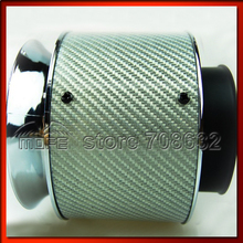 "3D Weaving Tech & High Grip Design 76mm 3"" Carbon Fiber Auto Car Air Intake / Carbon Air Filter White"