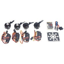 JMT RC Helicopter Kit KV2300 Brushless Motor +12A ESC+ QQ Super Multi-rotor Flight Control for 250 Helicopter DIY(China)