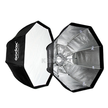 "2pcs/lot Godox 80cm/32"" 120cm/47"" Bowens Mount Umbrella Octagonal Softbox Octa Soft Box for Photo Studio Flash Strobe"