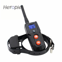 Heropie 300M LCD Remote Vibration and Tones Dog Trainer Waterproof Rechargeable Pet Cat Dog Training Collar(China)
