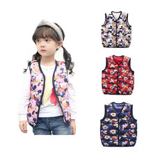 Children Spring Vest For Boys/Girls Cute Cartoon Cotton Vest Jacket Kids Warm Clothing Babys Waistcoats