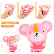 12CM Kawaii Cartoon Mouse Baby Doll Squishy Slow Rising Jumbo Hamster Phone Straps Pendant Charm Scented Bread Cake Kid Toy Gift