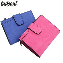 Ladsoul Women Short Wallet Famous Brand Womens Wallets Female Purse Clutch Bags Carteiras Femininas Credit Card Holder hl8441/g