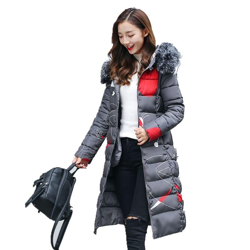 2017 winter cotton new coat women thick warm long Fur collar hooded cotton jacket Female fashion warm Long Parkas Brand fashionÎäåæäà è àêñåññóàðû<br><br>