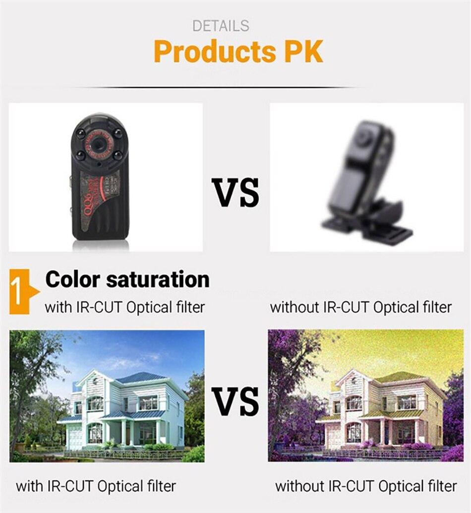 QQ6 Mini Camera Full HD 1080P Wide Angle Micro Camera IR Night Vision Motion Detection Sensor DV DVR Camera Small Web Camera