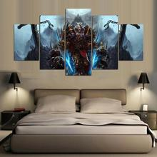 5 Panels Canvas Prints World Of Warcraft Artwork canvas painting poster home decor fashion wall art  for living room