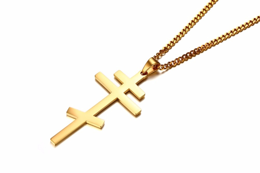 Authentic Russian Orthodox Cross Pendant Necklace for Men 15