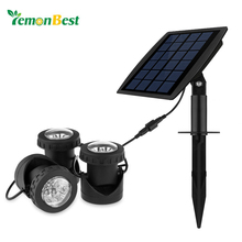 3pcs RGB LED Solar Powered Underwater Light Underwater Projector Spotlight Lamp IP68 for Garden Landscape Park Rockery Pool Pond
