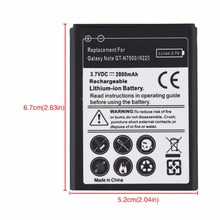 High Quality 3.7V 2800mAh Replacement Phone Battery for Samsung Galaxy Note i9220 GT-N7000 N7000 Battery Li-ion Batteria Bateria(China)