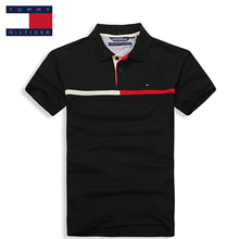 TOMMY HILFIGER Small stripes classic pure color polo shirt for man
