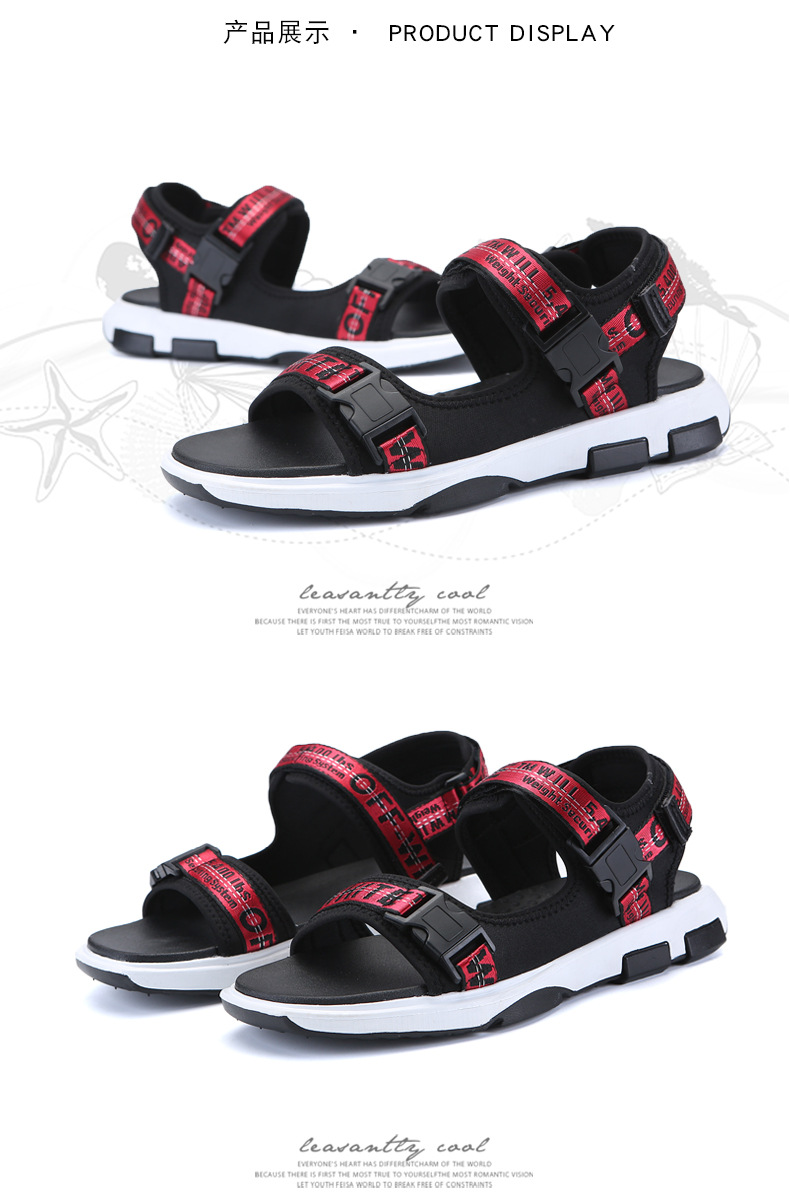 Summer Men Beach Sandals Fashion Breathable Walking Shoes Male Adult Comfortable Flat Sandals Outdoor Footwear Chaussures Homme 33 Online shopping Bangladesh