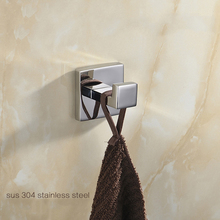 Bathroom Hardware.Clothes Hook Robe Hooks.Wall Mounted Single Robe Hook.Solid Brass Chrome Finish Bathroom Accessories