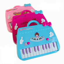 1set Cute Little Pink Bag Baby Kids Musical Educational Piano Cartoon Developmental Toys for Children Xmas Birthday Gifts Toys