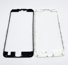 10pcs/lot Black White Brand New LCD Touch Screen Frame Front Bezel Housing with Hot Glue for iPhone 7 4.7 inch 7 plus 5.5 inch(China)