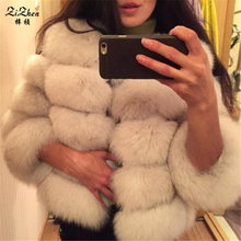 Natural Fur Coats Genuine Fox Fur Winter Warm The Coat For Women Real Fox Fur Women's Jacket Plus Size 130912-2