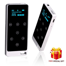 2017 Metal HIFI MP3 Player with 8GB storage and Screen Touch button play 100h high quality Lossless sound quality sport player