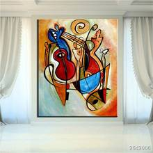 No Frame Printed Gita Cubic Abstract Oil Painting Canvas Prints Wall Painting For Living Room Decorations Wall Picture Art gift