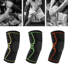 1Pcs 3 Colors 3 Sizes Elastic Sports Safety Kneepad Breathable warm Training Knee Support Arthritis Injury Sleeve Protector(China)