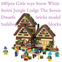 Friends girl 5005 5003 2017 01002 01001 01003 01004 Snow White Series Jungle Lodge The Seven Dwarfs Model brick Girl gift Toy
