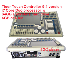 I7 Titan Operating System Tiger Touch Controller Stage Light,DMX Controller LED Stage Lighting 2048 DMX Channels in Flight case