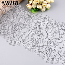 NBHB 3 Meters New Eyelash Lace fabric Trim Crafts DIY Clothing Dress sewing accessories lace ribbon Wedding Party Decoration(China)