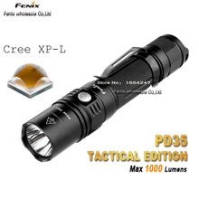 Free Shipping  Fenix  PD35 TAC  1000 Lumens PD35TAC  Cree XP-L  LED Flashlights  Tactical +Outdoor